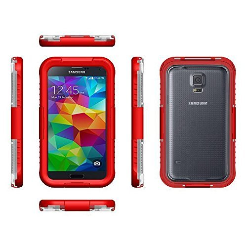 Vandot Accessories Set Hybrid Rubber Edge Protectors Ultra-Thin Waterproof Case Dustproof Shockproof Case Samsung Galaxy S5 G900 Waterproof Protective Case Cover Shell Silicone Transparent Bumper Cover Hard Hard Back Shell Case Case Protection Thin Protec front-561712