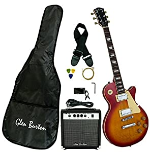 Glen Burton GE320BCO-CBS Classic LP-Style Electric Guitar, Cherry Burst from Bridgecraft