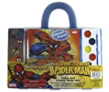Marvel Comics 4pc Color and Create Spiderman Paint Set - Spiderman Art Kit - Spiderman Watercolors