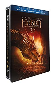 Le Hobbit : la désolation de Smaug - version longue - Blu-ray 3D + Blu-ray + DVD + DIGITAL Ultraviolet - Edition Limitée Steelbook(TM) Jumbo