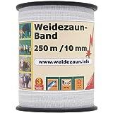 Weidezaun Band 250m, 10mm, 4x0,16 Niro, weiß 1* Weidezaunband Weidzeaunbreitband Pferdeband