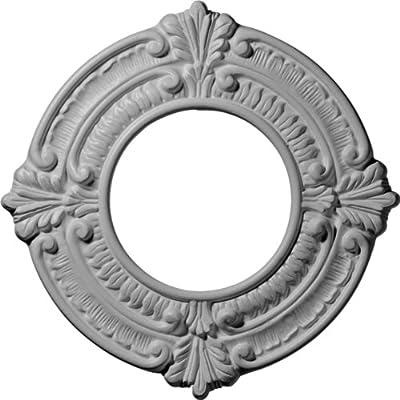Ekena Millwork CM09BN 9-Inch OD x 4 1/8-Inch ID x 5/8-Inch Benson Ceiling Medallion by Ekena Millwork