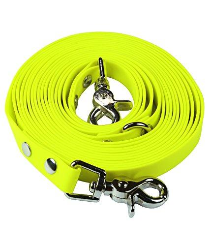 schleppleine-10m-neon-gelb-zugfeste-schmutz-und-wasserabweisende-hundeleine