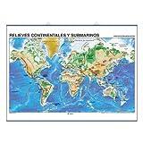 Relieves continentales y submarinos / Placas Tect—nicas: Mapas Murales