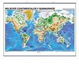 Relieves continentales y submarinos / Placas Tect—nicas: Mapas Murales (Cartografía)