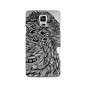 Ebby Flowing Lion Premium Printed Case For Samsung Note 4 N9108
