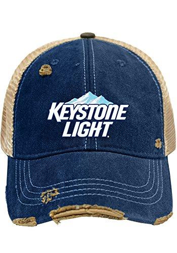 Keystone Light Brewing Company Retro Brand Vintage Mesh Adjustable Beer Hat Cap (Beer Company Hat compare prices)