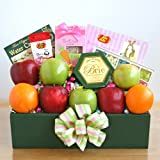 Healthy Easter Wishes -Gourmet Fruit and Easter Treats Gift Basket