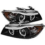 Spyder Auto BMW E90 3-Series Black Halogen CCFL Amber Projector Headlight