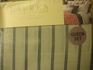 Ralph Lauren Villa Martine Bar Stripe Queen Sheet Set
