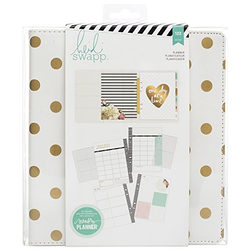 heidi-swapp-memory-planner-large-gold-foil-dots-planner-122-piece-by-american-crafts