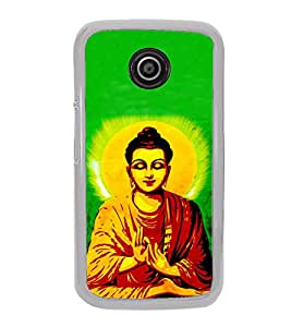 ifasho Lord Budha Back Case Cover for Moto E