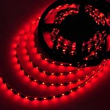 LEDwholesalers 5M 16 ft Reel Flexible LED Ribbon 300 LEDs Red Strip With Double Sided Tape, 2026RD