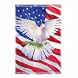 Peace Dove Patriotic Flag - Garden