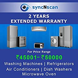 syncNscan 2 Years Extended Warranty for Appliances (Rs. 45001 to 50000)