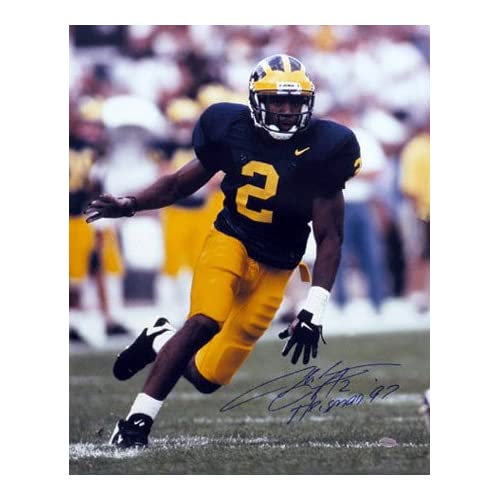 Charles Woodson Michigan Wolverines 16x20 Autographed Photograph with Heisman  97 Inscription 9e9138aa1