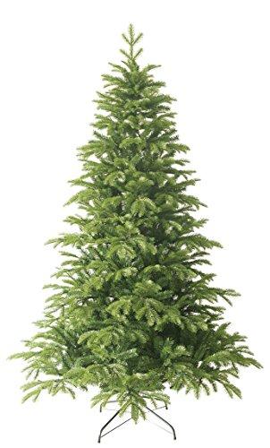 Forever Green Anson 958802 - Albero di Natale sintetico, H 210 x D 135 cm, in PVC e PE, 1.836 punte, supporto in metallo, verde