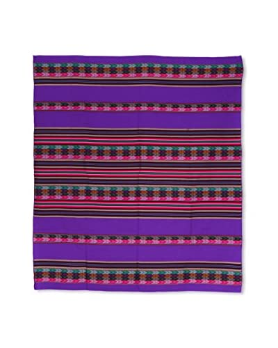 Uptown Down Found Peruvian Woven Throw, Purple/Multi As You See