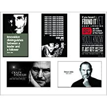 Steve Jobs Posters Set | Set Of Posters | Original Quotes Decorative Steve Jobs Posters (Pack Of 5) | News Paper...