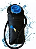 Hydration Water Bladder for Backpacks – Large 2 Liter Durable & Long Lasting Hydration Pack for Hiking, Biking, Camping, Hunting and More. Compare with Camelbak and Platypus