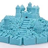 100G Juguetes Juegos de Arena Puede Apilar Y Construir Forma de Ajuste Y Esculpir Super Divertido - Azul