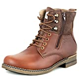 Lee Fog Mens Horizon Genuine Leather High Anklet Brown Genuine Leather Casual Boots UK 6