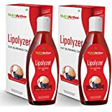 NutroActive Lipolyzer Fat Burning Oil (275 Ml) Pack Of 2, Slimming Oil, Weight Loss, Massage Oil, Fat Burner,...
