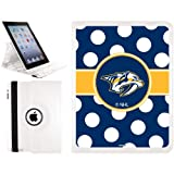 Nashville Predators® - Polka Dots design on a White 2nd-4th Generation iPad Swivel Stand Case by Coveroo at Amazon.com