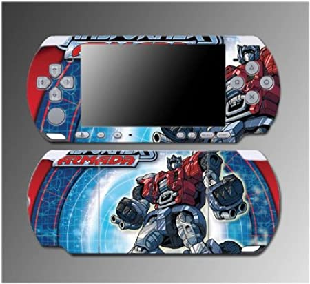 Transformers Animated Optimus Prime Video Game Vinyl Decal Sticker Cover Skin Protector 6 for Sony PSP Slim 3000 3001 3002 3003 3004 Playstation Portable