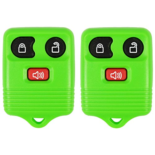 2 Green- QualityKeylessPlus Remote Replacement 3 Button Keyless Entry FCC ID: CWTWB1U331 FREE KEYTAG (Ford Escort Mark 2 compare prices)