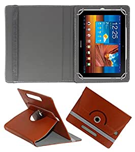 ACM ROTATING 360° LEATHER FLIP CASE FOR SAMSUNG GALAXY TAB P7500 TABLET STAND COVER HOLDER BROWN