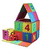 PRINZBERT Puzzlematte 45 Matten 114-tlg. Puzzleteppich kreativ Spielmatte Spielteppich bunt Schaumstoffmatte rutschfest Lernteppich robust schadstofffrei Spielfläche mit Lerneffekt