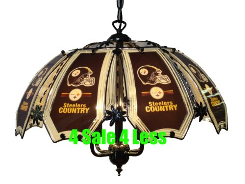 NEW NFL Pittsburgh Steelers Hanging Ceiling Lamp 8738C-PIT7 at Amazon.com