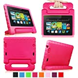 Fintie Kindle Fire HD 7 (2013 Model) Casebot Kiddie Case Cover Light Weight Shock Proof Convertible Handle Kids Friendly (will only fit Amazon Kindle Fire HD 7, Previous Generation - 3rd), Magenta