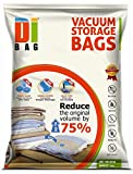 DIBAG ® 6 VACUUM COMPRESSED STORAGE SAVING SPACE BAGS 100 X 80 CM For Clothing, Duvets, Bedding, Pillows, Curtains & More.