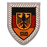 Generic German Bundeswehr Panzer Division Embroidery Patch Insignia Color White