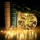 InnooLight Solar Starry String Lights, 100 Led Outdoor Lights 33 Feet Copper Wire Warm White Ambiance Lighting for Gardens, Homes, Dancing, Christmas Party, Magical Lighting Decor for Indoor, Bedroom Window