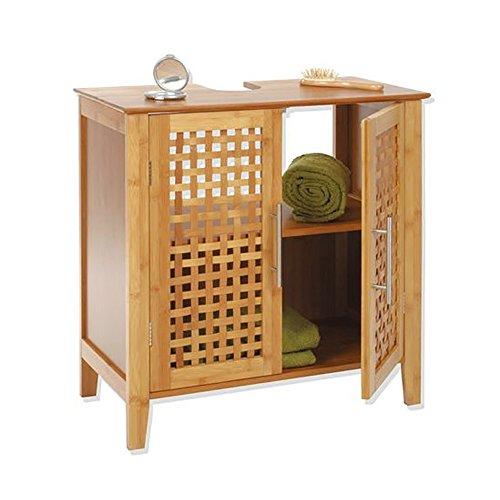 Mobile bagno da posizionare sotto il lavandino   in bambù