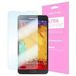Galaxy Note 3 Screen Protector, Spigen® Samsung Galaxy Note 3 Screen Protector Clear Steinheil [Ultra Oleophobic] [2-Pack] Premium Oil Resistant Coated Clear Screen Protector for Galaxy Note III - Ultra Oleophobic (SGP10447)
