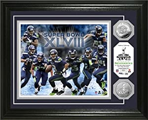 Seattle Seahawks Super Bowl 48 Team Force Silver Coin Photo Mint by Hall of Fame Memorabilia