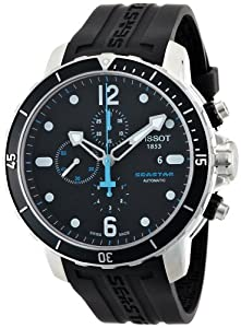 Tissot Men's T0664271705700 Seastar 1000 Black Chronograph Dial Watch