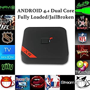Aizbo Android TV BOX 2nd generation (Red) Quad Core, Amlogic S805 CPU! Full Loaded KODI (know as XBMC), 4K Smart TV BOX, 3D-HD Blu-ray Streaming Media Player Android 4.4.2
