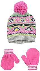 Carters Baby-Girls Fair Isle Hat Mitten Set, Grey, 0-9 Months