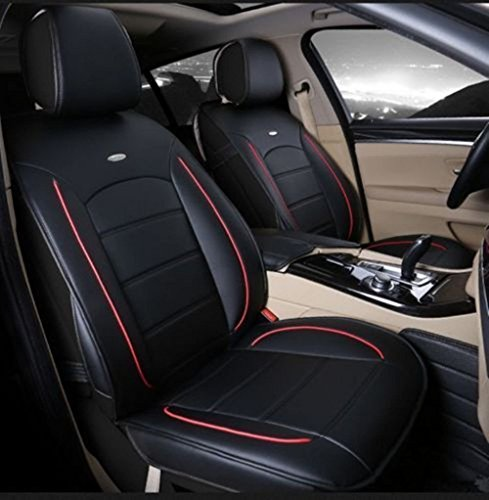 Wyness 6pcs Seat Cover PU Leather Car Seat Cushion Fit For Jeep Patriot/Toyota Camry/Chevrolet Cruze/Honda Accord M(Rear Bench Length 50'') (Chevy Cruze Red Seat Covers compare prices)
