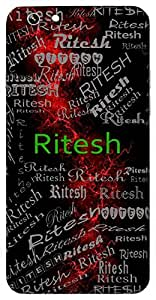Ritesh (Lord Of Truth) Name & Sign Printed All over customize & Personalized!! Protective back cover for your Smart Phone : Apple iPhone 4/4S