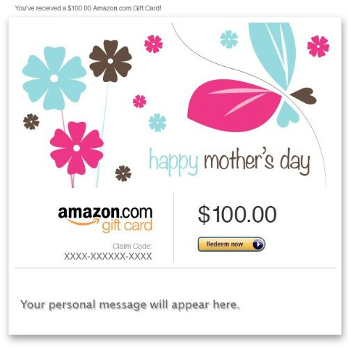 Amazon Gift Card - Email - Happy Mother's Day (Flowers)