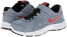 Boy\'s Nike Revolution 2 Running Shoe (11C-3Y) Magnet Grey/Black/White/Challenge Red Size 3 M US