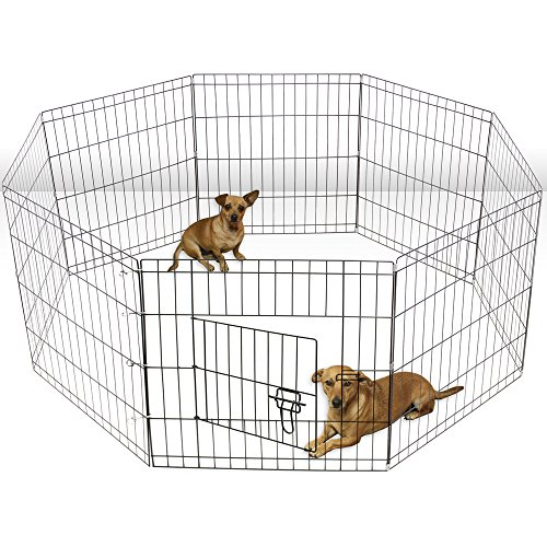 oxgord-8-panel-folding-wire-fence-exercise-pen-with-door-for-pets-64-by-64-by-30