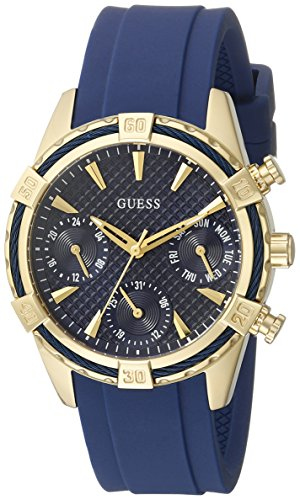 guess-womens-u0562l2-sporty-gold-tone-stainless-steel-watch-with-blue-dial-crystal-accented-bezel-an