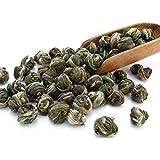 Imperial Jasmine Dragon Pearls Green Tea Loose Leaf - Best Jasmine Tea - Organic (4oz / 110g)